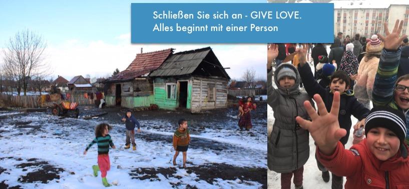 Wir geben zurück. Charity. Gratitude. Be kind. GIVE Love.